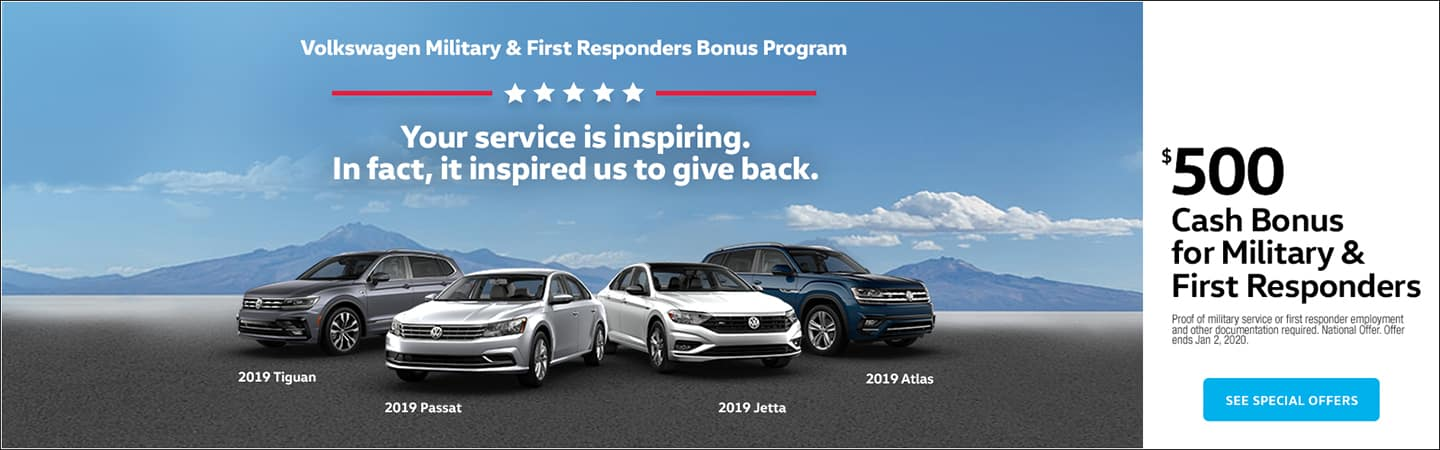 Volkswagen Military and First Responder bonus