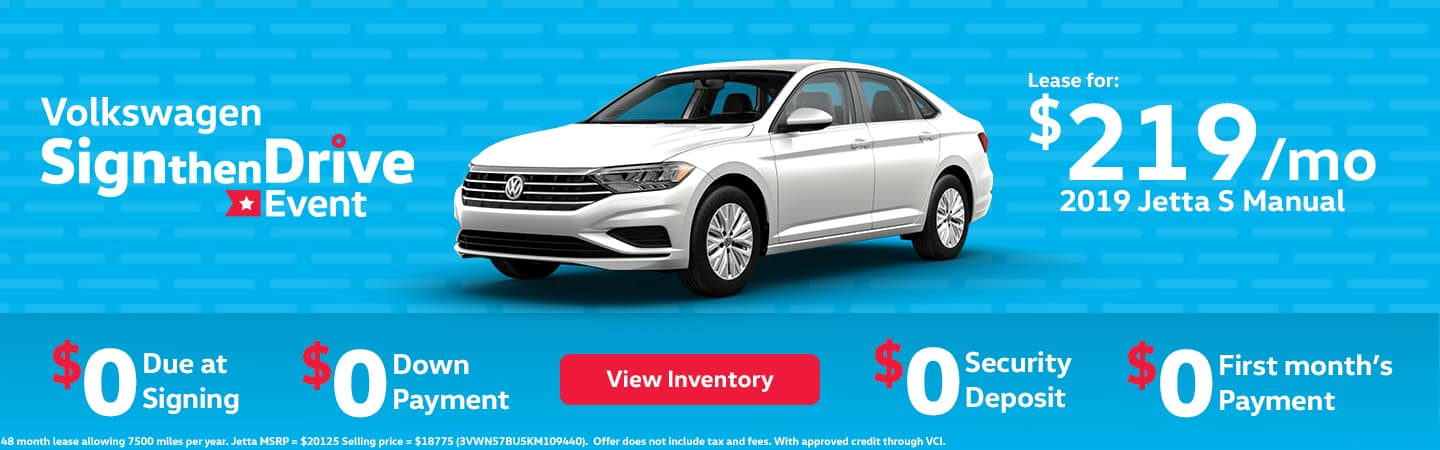 Jetta S Sign then Drive lease