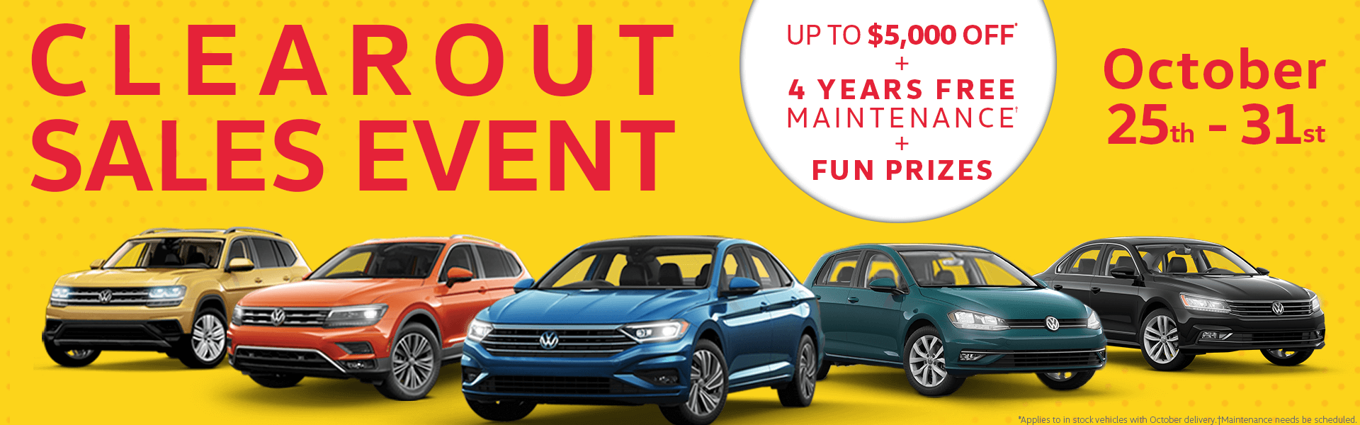 Sales Event at Cowell Volkswagen in Richmond, Metro Vancouver