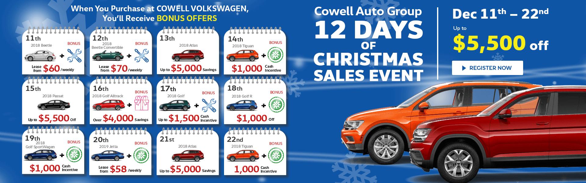 Cowell Volkswagen in Richmond, Metro Vancouver