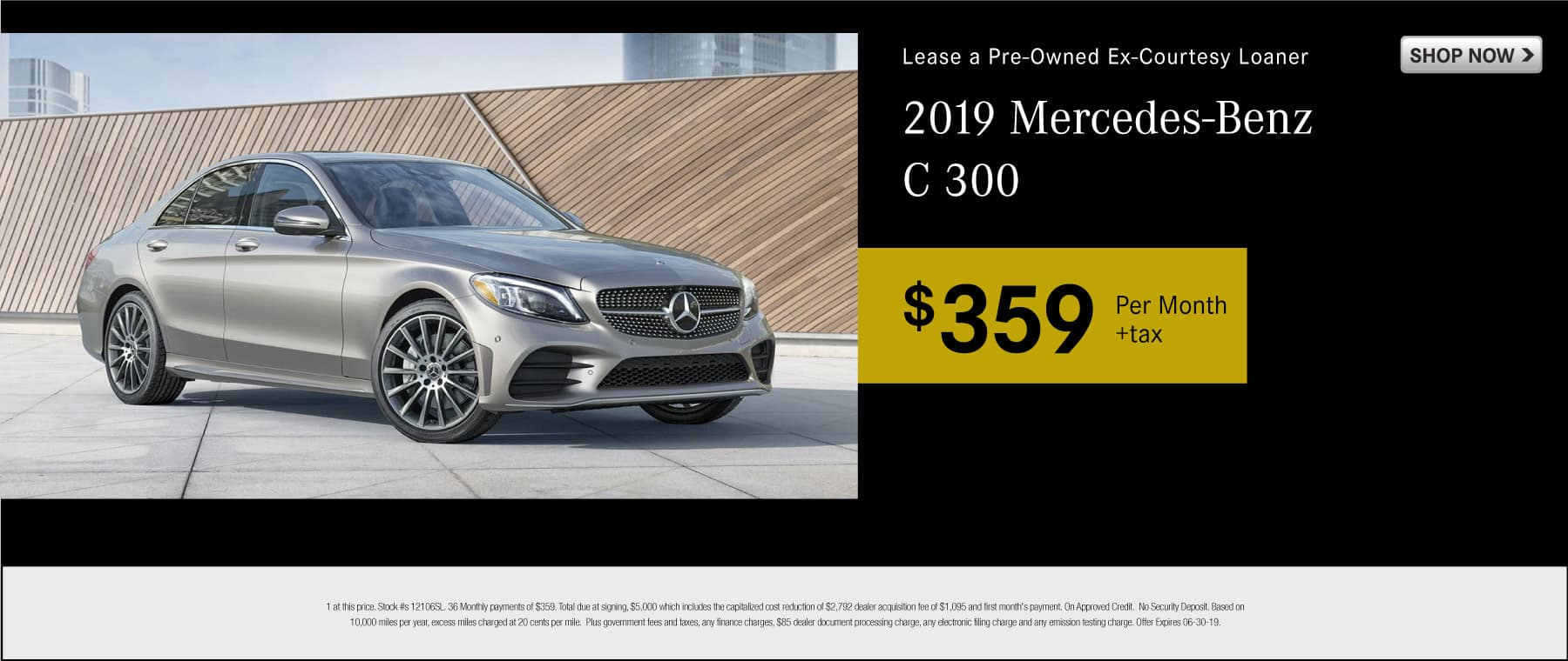 Lease a pre-owned ex-courtesy loaner 2019 Mercedes-Benz C 300