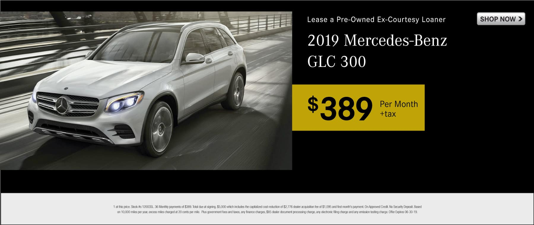 Lease a pre-owned ex-courtesy loaner 2019 Mercedes-Benz GLC 300