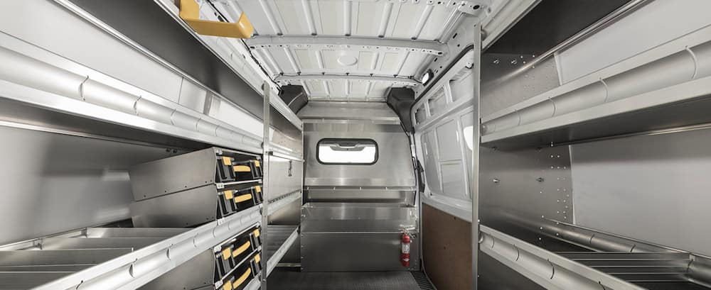 Mercedes-Benz Sprinter van Interior cargo space dimensions