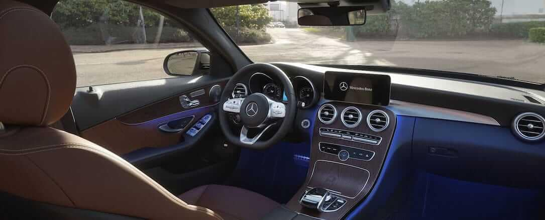 2020 C-Class Sedan Interior dashboard and driver's seat