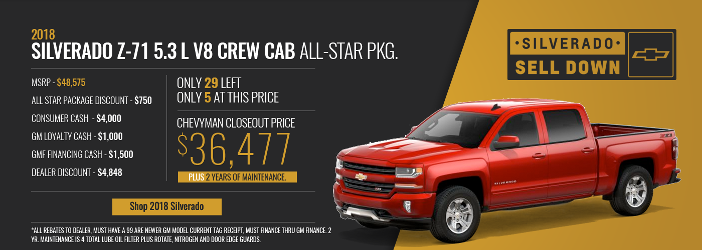 Silverado All Star Special Offer