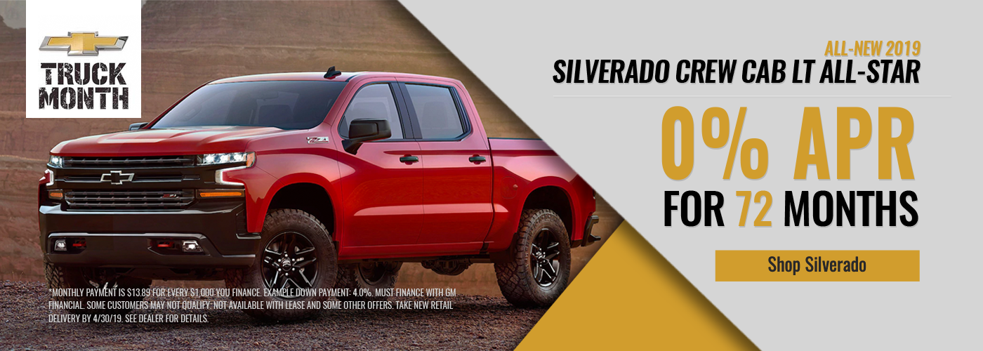 0% For 72 Months on Silverado