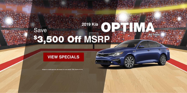 2019 Kia Optima March Special