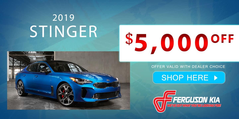 2019 Stinger Special Offer
