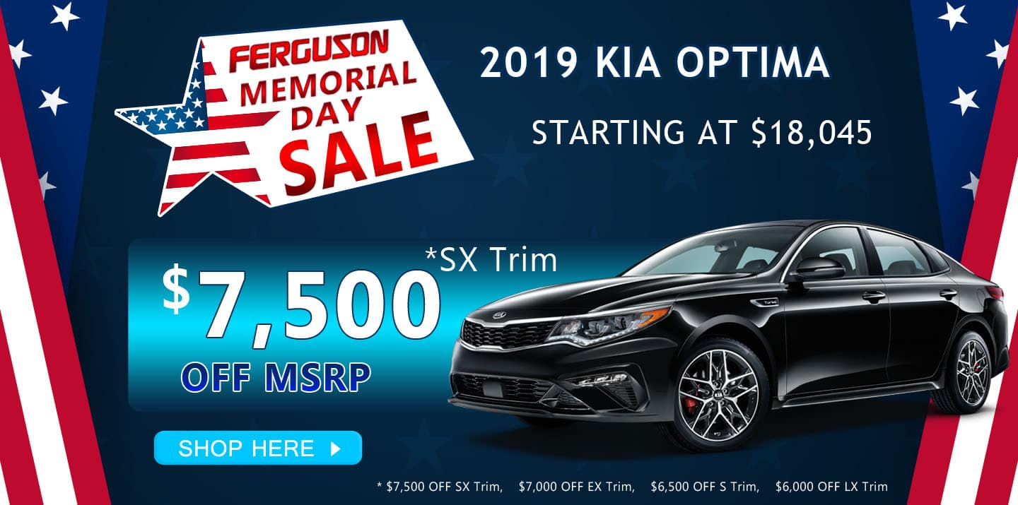 May 2019 Kia Optima Special