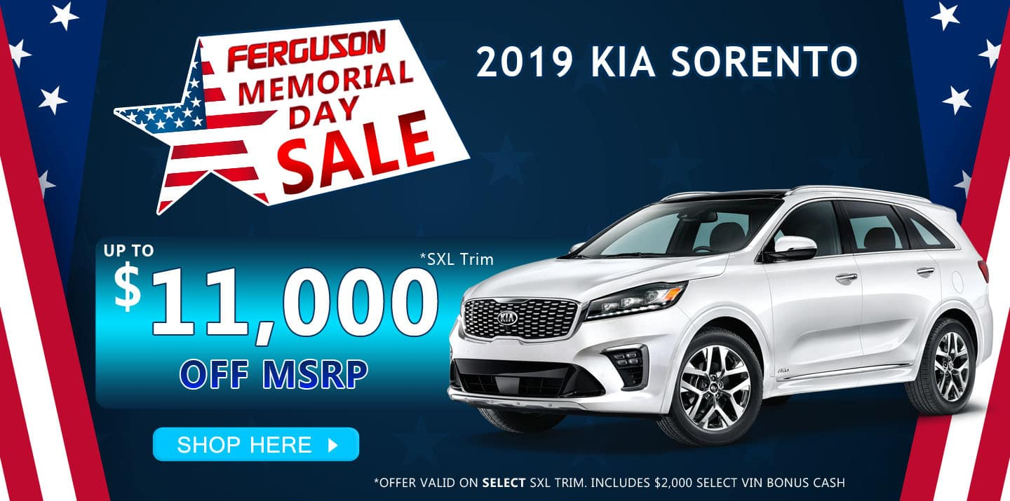 May 2019 Kia Sorento VIN Specials