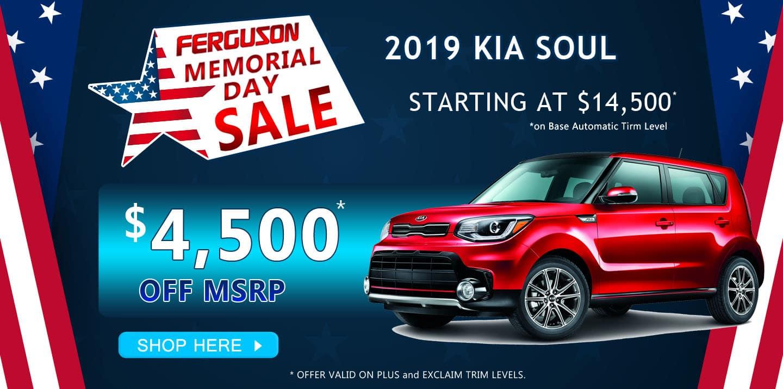 May 2019 Kia Soul Special