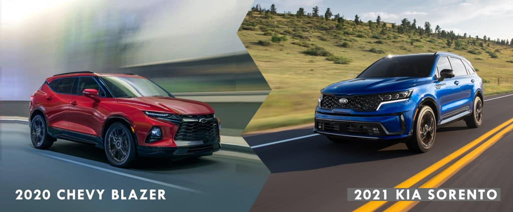 2021 Kia Sorento vs 2020 Chevrolet Blazer