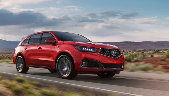 2019 Acura MDX Driving on Road