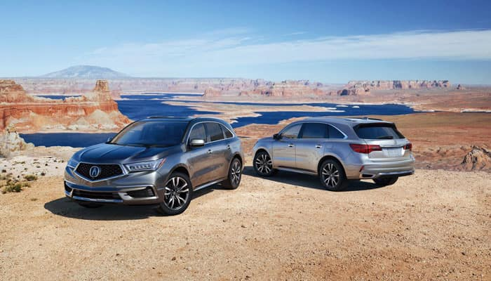 2019 Acura MDX Parked Outdoors