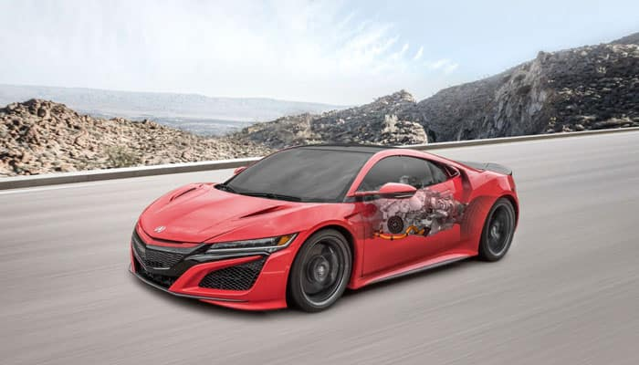 2019 Acura NSX Internal Illustration