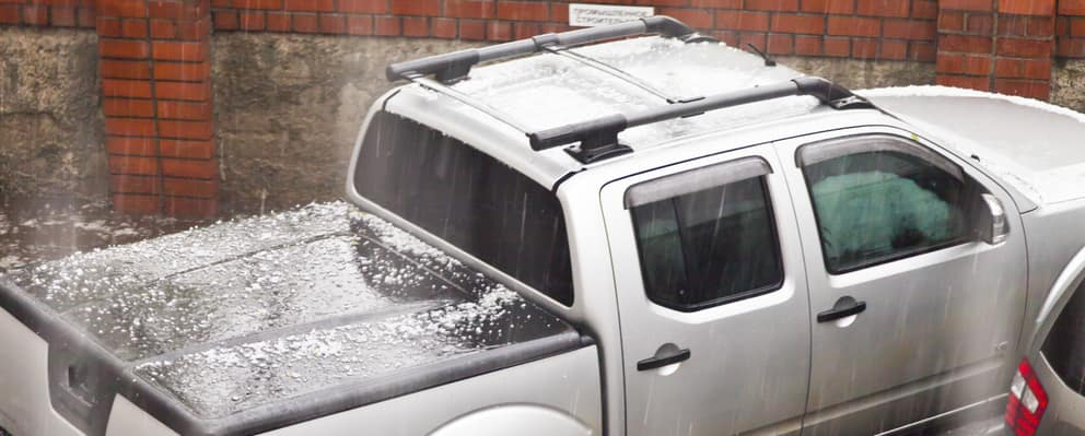truck with hail