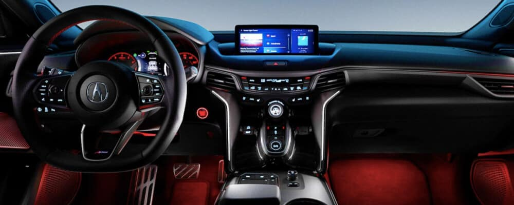 2021 Acura TLX interior dashboard
