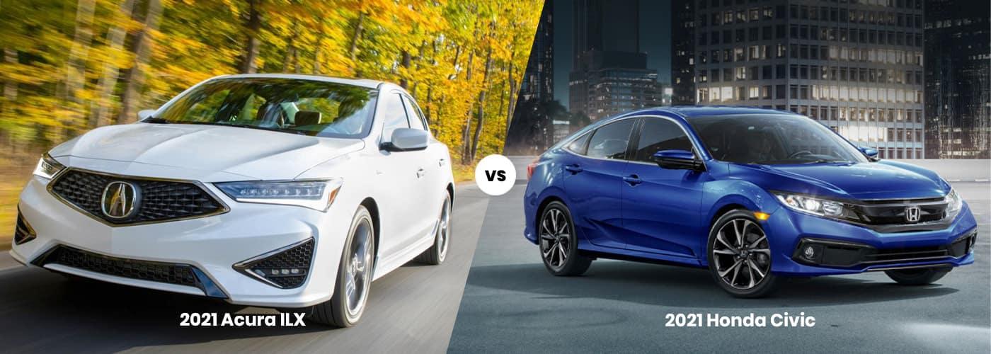 2021 Acura ILX vs 2021 Honda Civic comparison