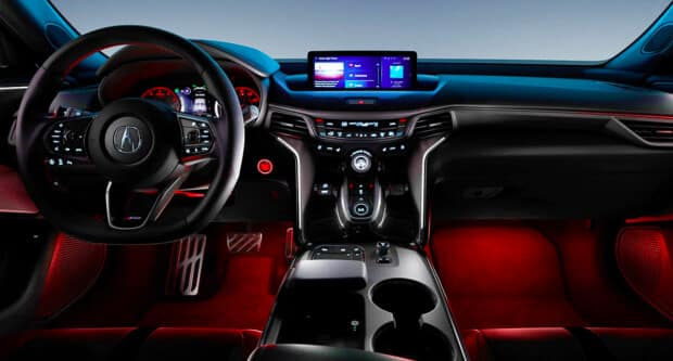 2021 Acura TLX front seat dashboard