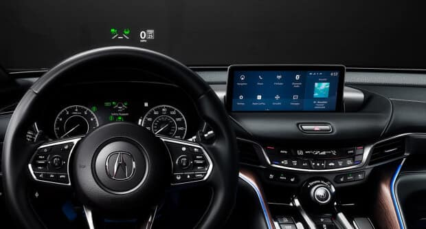 2021 Acura TLX technology on dashboard