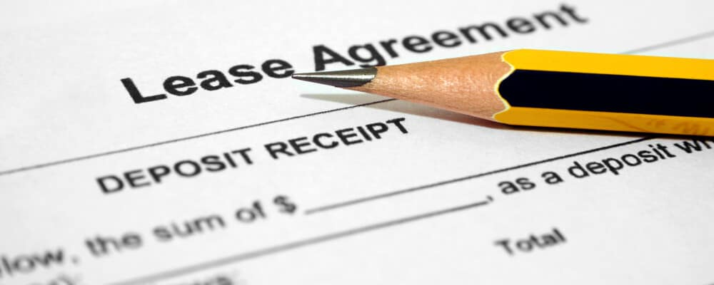 Lease agreement paperwork