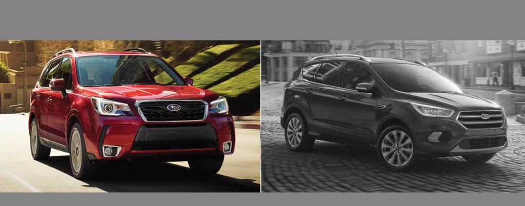 Comparing the Subaru Forester vs Ford Escape Southfield