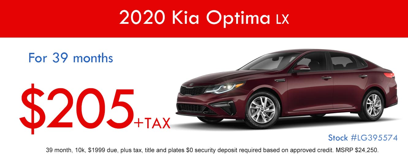 2020 Kia Optima Lease Special