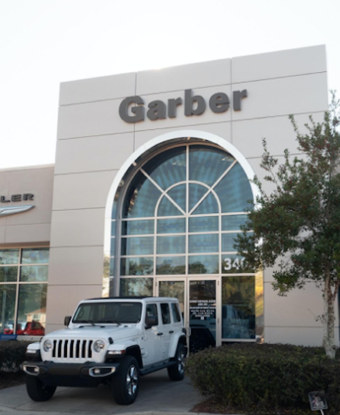 Garber Jeep Outside of Dealership