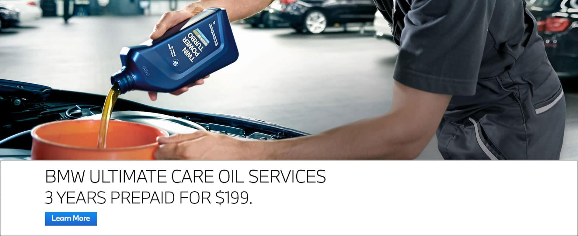 bmw oil services 3 years special for $199