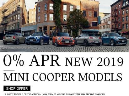 0% APR On All New 2018 and 2019 MINI Cooper Models