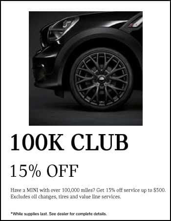 100K CLUB. 15% off