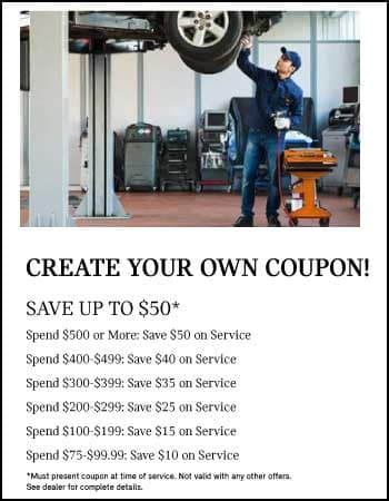 Create your own coupon! Get up to $50 off. See dealer for details.