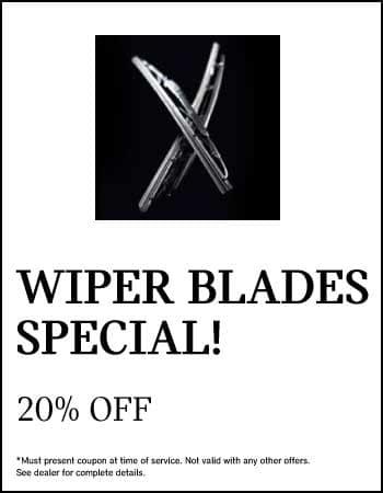 Wiper Blades Special! 20% off.