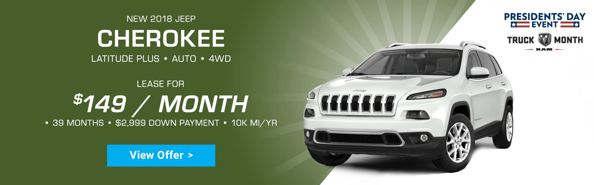 Jeep Cherokee Special Offer