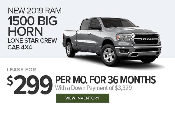 2019 Ram 1500 Big Horn Lone Star Crew Cab 4x4