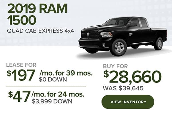 2019 Ram 1500 Quad Cab Quad Cab Express 4x4