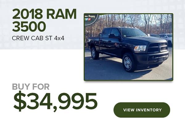2018 RAM 3500 CREW CAB ST 4X4