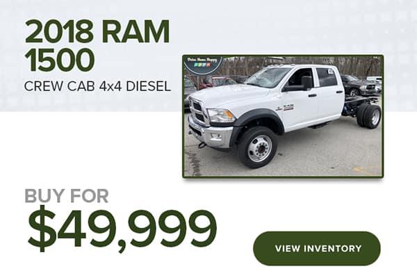 2018 RAM Crew Cab 4x4 Diesel