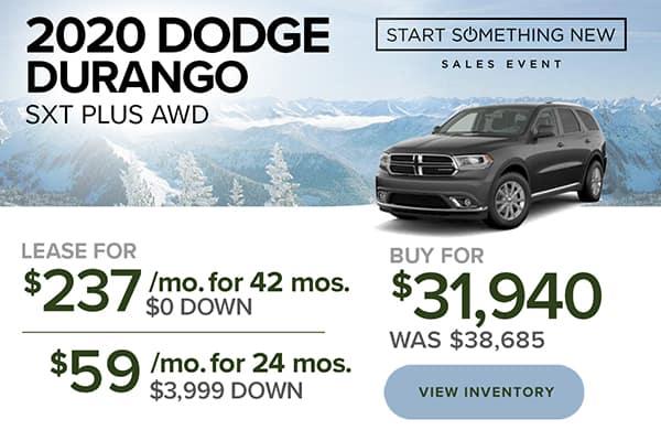 2020 Dodge Durango SXT Plus AWD