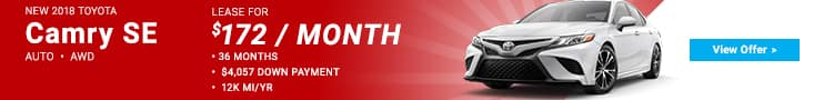 Harr Toyota Camry Special Offer