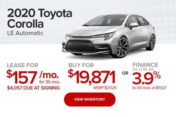 2020 Toyota Corolla LE Automatic