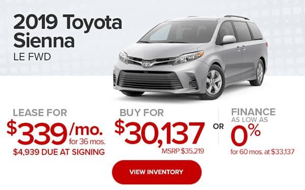2019 Toyota Sienna LW FWD