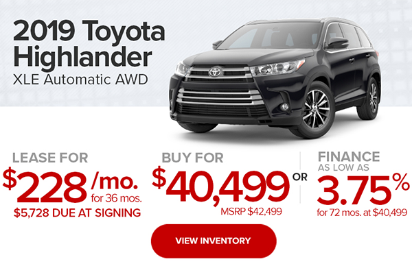 2019 Toyota Highlander XLE Automatic AWD