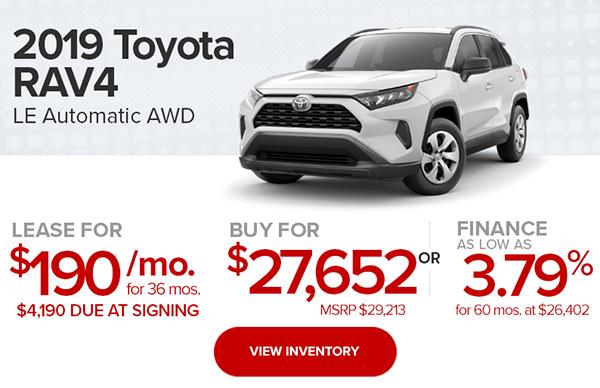 2019 Toyota RAV4 LE Automatic AWD