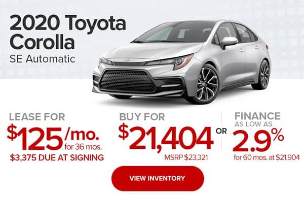 2020 Toyota Corolla SE Automatic