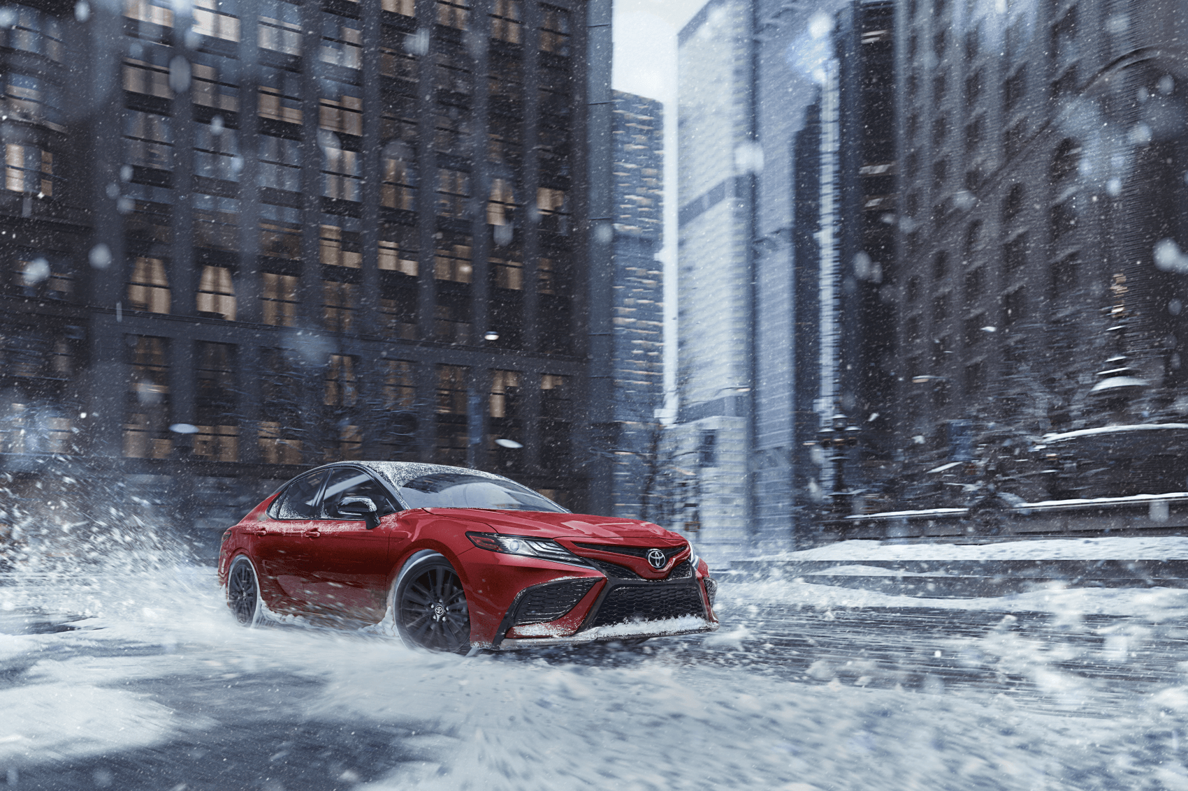 2021 Toyota Camry Red City Snow Winter Harr Toyota