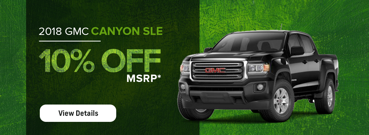2018 GMC Canyon MSRP Offer
