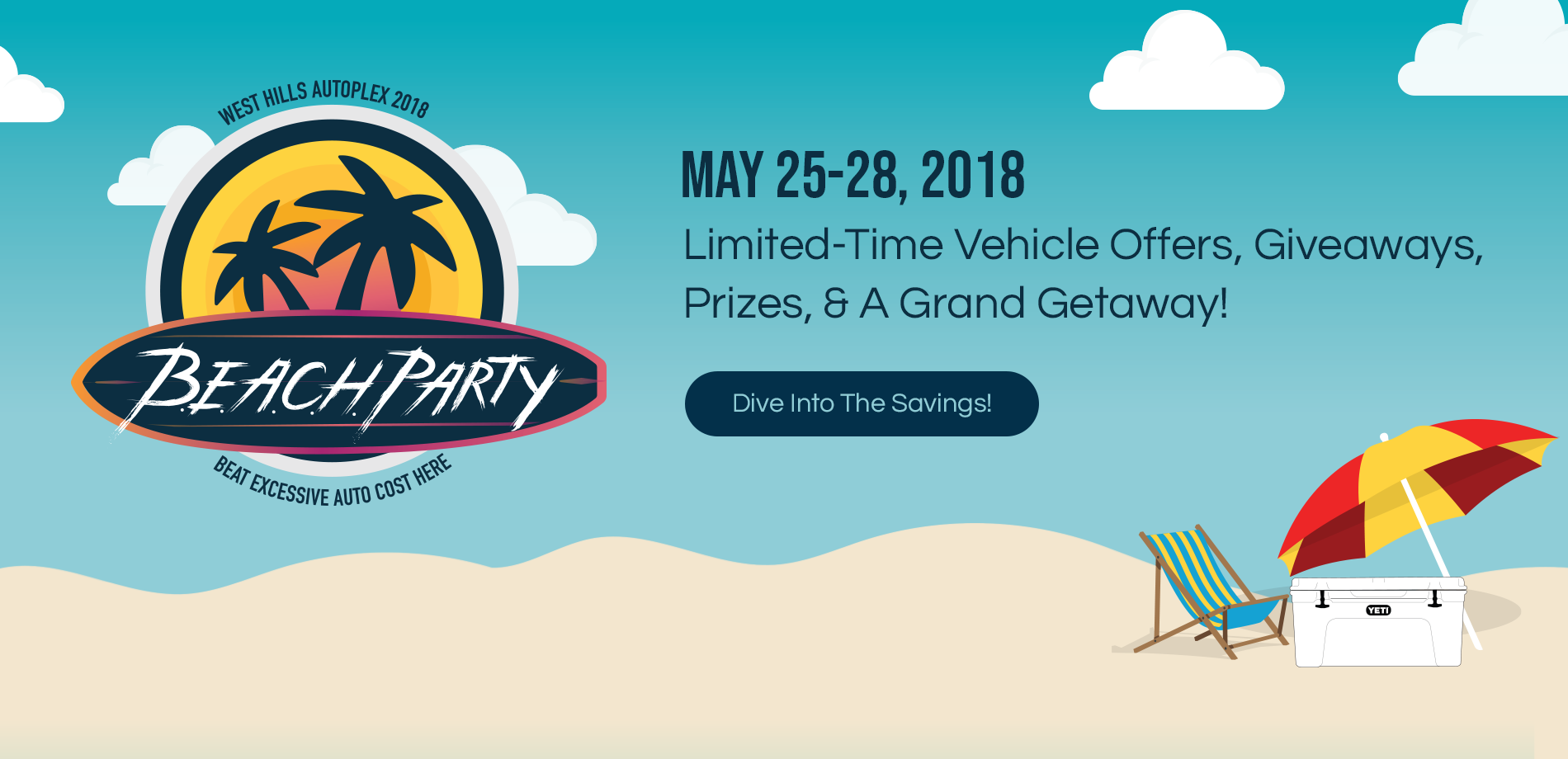 West Hills Auto Plex Beach Party Sales Event