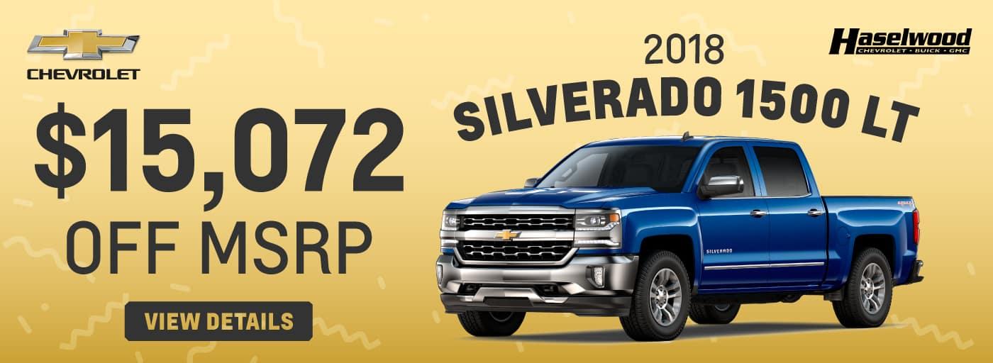 2018 Chevrolet Silverado 1500  25% OFF MSRP*