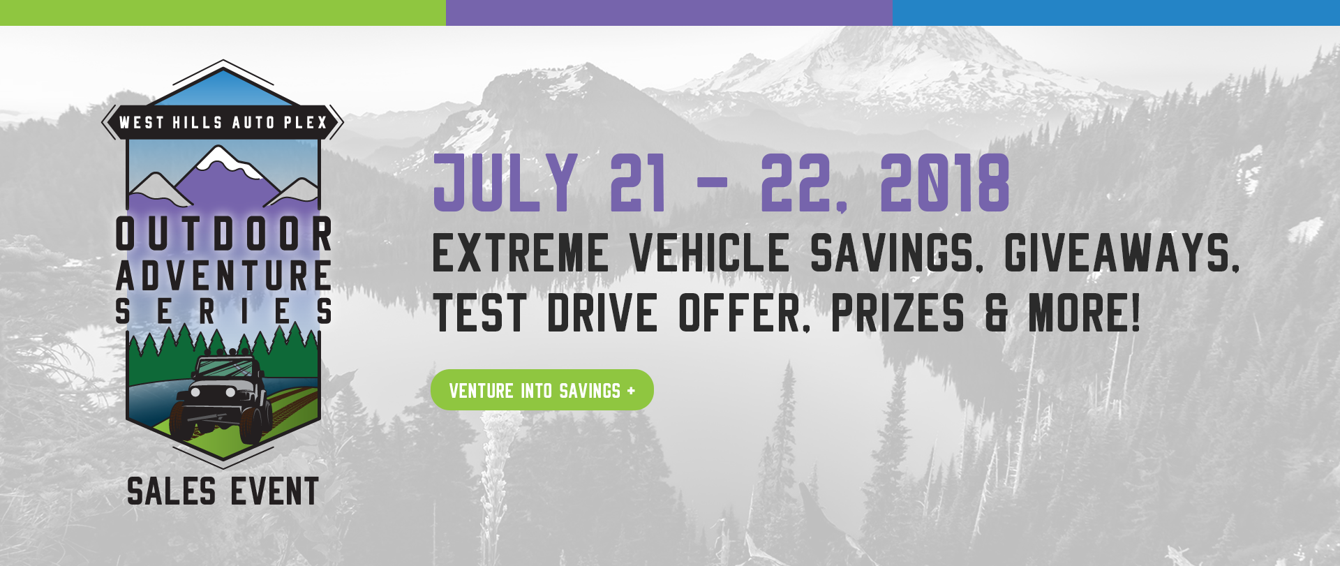Outdoor Adventure Series Sales Event